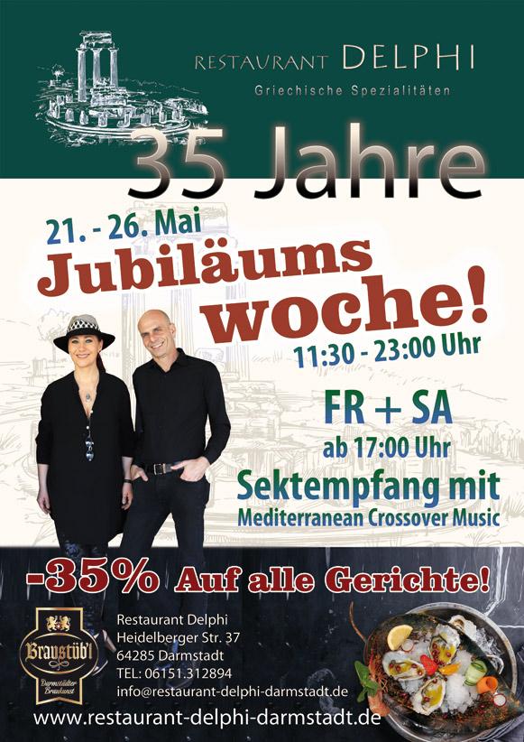 Jubilläum Restaurant Delphi Darmstadt